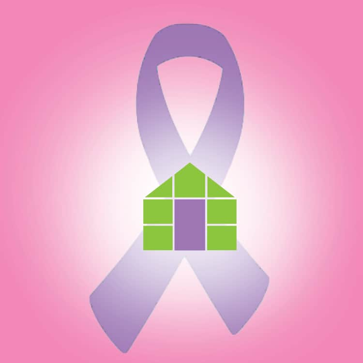 fb-ribbon with house pink