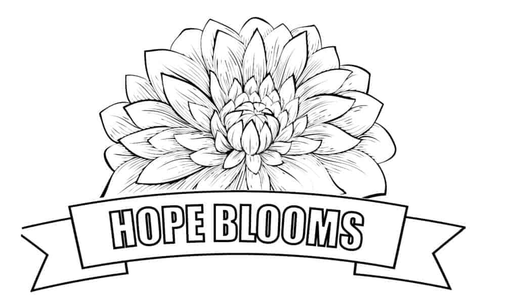 Hope Blooms Coloring Pages - GreenHouse17