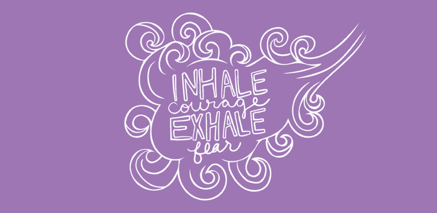 "DVAM logo ""Inhale Courage, Exhale Fear"""