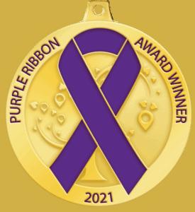 purple ribbon award