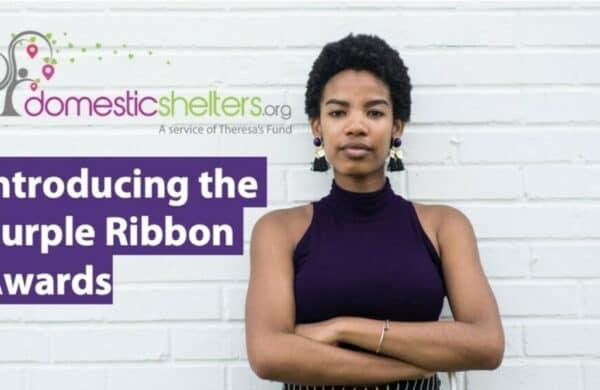 purple ribbon awards banner